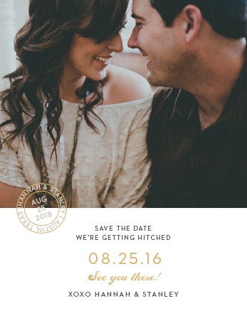 Note Home Foil Save-the-Date Cards