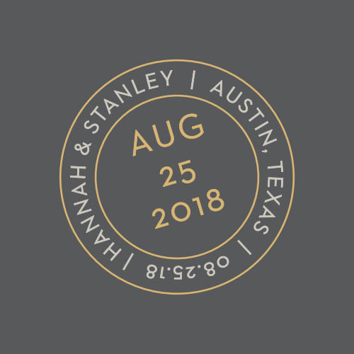 Composed from the heart, with a french grey background and embellished with a postmark emblem in gold foil and smoky taupe, the Note Home Foil Wedding Stickers are more than a sticker, they're a momento of the love you and your betrothed share!