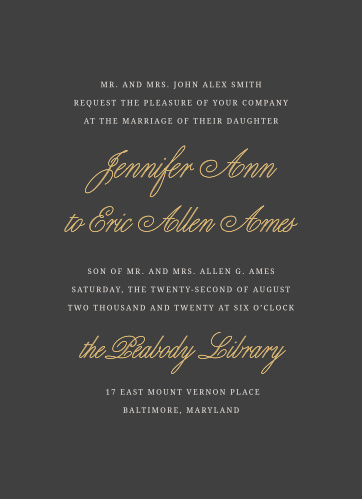 Even though marriage is an old and time honored tradition, make yours modern and current with the Modern Forever Foil Wedding Invitation!