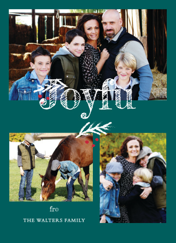 Bring some joy to your family and friends this holiday season with the Joyful Cheer Photo Holiday Cards.