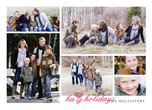 Bring joy to your loved ones home with a gallery of family photos using the Simple Gallery Photo Holiday Cards.
