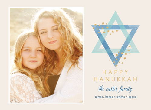 With a lovely photo of your choice to decorate the left-hand side of our Happy Photo Foil Hanukkah Cards and a carefully opaque Star of David gracing the right, these cards are perfect for celebrating this year's holiday season.