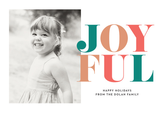 Bring a little joy to the ones you love with the Chic Didone Photo Holiday Cards.