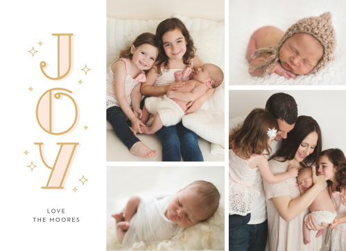 Upload your own favorite photos to create the perfect quartet for your Cute Deco Photo Holiday Cards.
