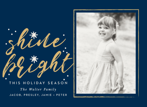 Make sure your holiday cards stand out this year with the Shine Bright Foil Photo Holiday Cards.