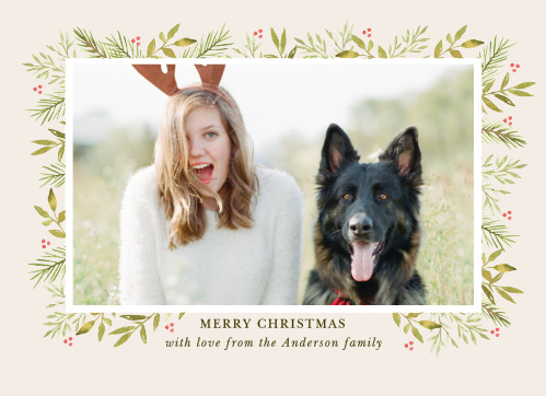 Bring a smile to your friend's and family's faces with the Winter Watercolor Photo Christmas Cards.
