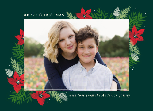 Show your loved ones that your family is transforming as quickly and beautifully as fall leaves with our Classic Florals Photo Christmas Cards.