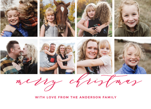 If you're having a hard time narrowing down all of those cute family photos you have, the Christmas Grid Photo Christmas Cards is the perfect card for you.
