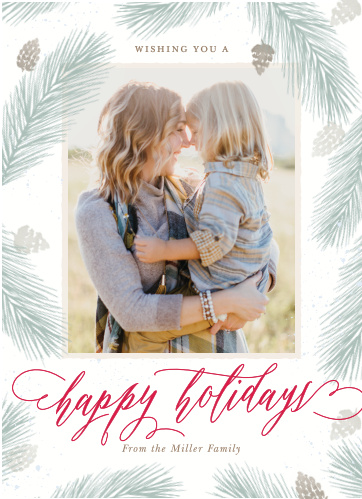 Keep your Holiday Cards classic this year using the Perfect Pinecone Photo Christmas Cards.