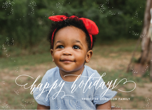 A white Christmas will be what your friends and family will be dreaming of when they receive the White Christmas Photo Christmas Cards this holiday season.