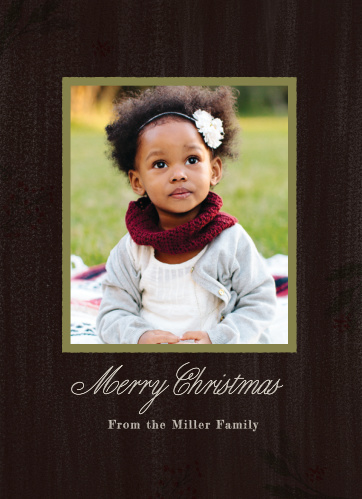 Keep your Holiday Cards classic this year using the Winter Harvest Photo Christmas Cards.