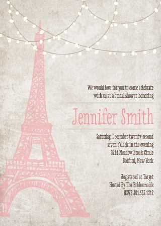 The Paris invitation is classy and elegant. It's a classic!