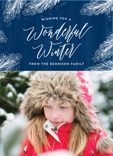 A winter wonderland will be what your friends and family will be dreaming of when they receive the Wonderful Winter Photo Holiday Cards this holiday season.