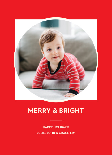 The Blissful Holiday Photo Holiday Cards are simple and modern, but still give you the classic feel you desire for your seasonal greeting cards.