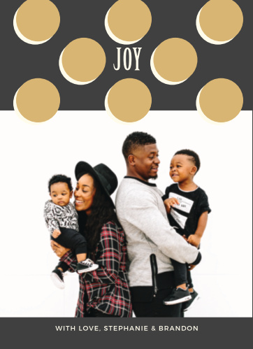 The Glitter Dots Photo Holiday Cards are beautifully designed.