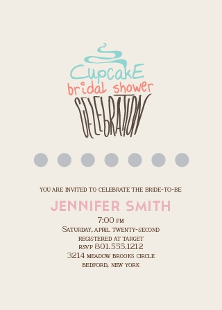 The Cupcake Bridal invitation is a fun modern way to invite your friends and family to come celebrate the bride-to-be!
