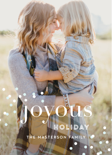 The Modern Confetti Photo Holiday Cards are the must have greeting cards!