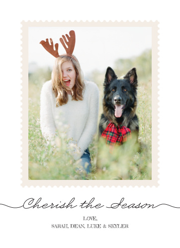 Send your season's greeting with the Polaroid Photo Holiday Cards.