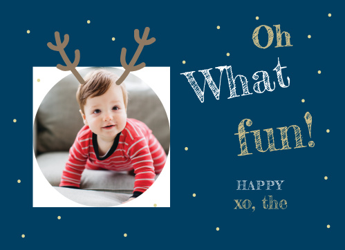 Our Oh What Fun Photo Holiday Cards are as cheery and fun as a holiday card can get!