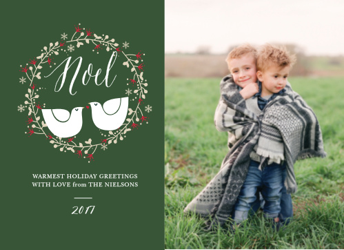 After you get your partridge in a pear tree make sure to customize and get your Two Turtle Doves Photo Christmas Cards.