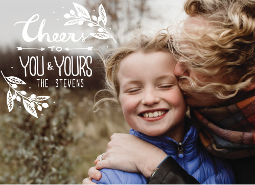 Make sure you send your friends and family a winter greeting with the You & Yours Photo Holiday Cards.