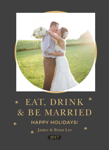 The Focal Point Foil Photo Holiday Cards are the perfect greeting card for newlyweds!