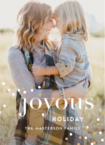 The Modern Confetti Foil Photo Holiday Cards are the must have greeting cards!