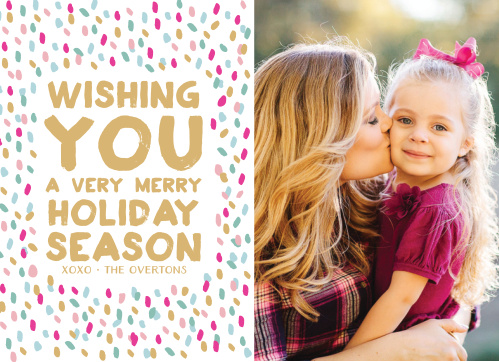 Send your loved ones some seasonal cheer with the Vivid Print Foil Photo Holiday Cards.