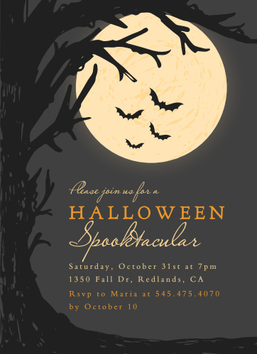 The Full Moon Halloween Party Invitations are frightfully detailed.
