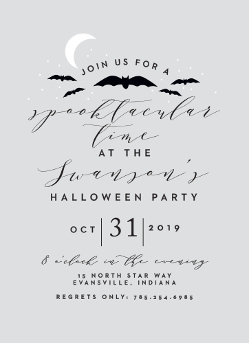 Keep it spookily simple with our Spooktacular Halloween Party Invitations.
