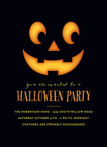 Start your Halloween party off right using the Perfect Pumpkin Halloween Party Invitations.