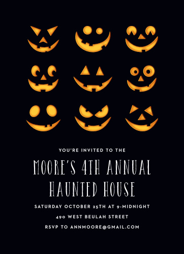 Start your Halloween party off right using the Haunted House Halloween Party Invitations.