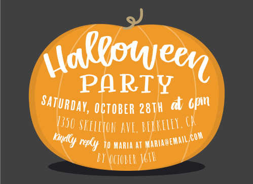 Nothing says Happy Halloween like the Great Big Pumpkin Halloween Party Invitations.