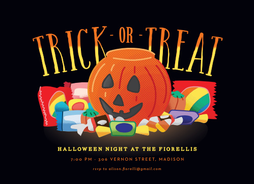 Use the Candy Haul Halloween Party Invitations to show your guests what is in store for your Halloween Party.