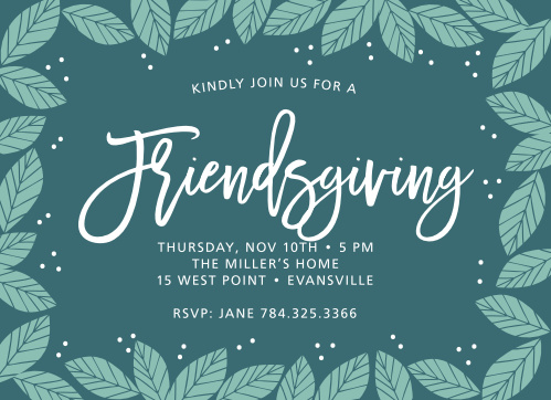 Why limit your Fall holidays to one, when you can have two? Use the Friendsgiving Thanksgiving Party Invitations to invite your friends over for a holiday party.