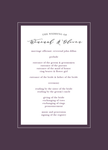 The Vibrant Anemone Wedding Programs are an exquisite display of contrasts.