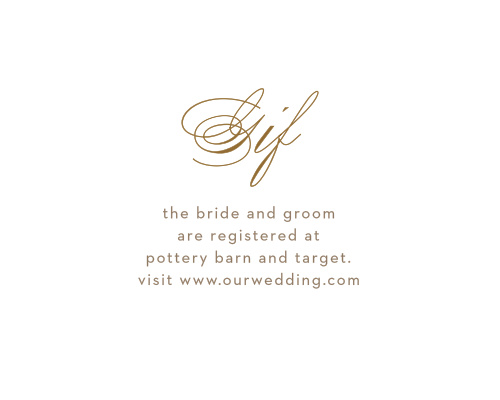 For the gifts you actually want and need, use our lovely Falling Feathers Registry Cards.