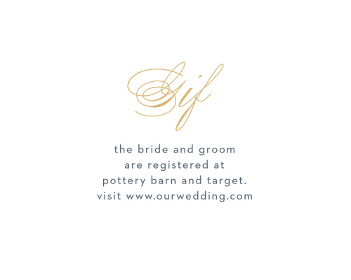 For the gifts you actually want and need, use our lovely Falling Feathers Foil Registry Cards.