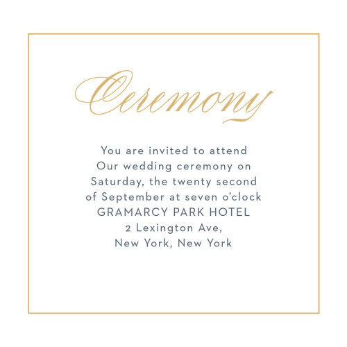 If you would prefer a smaller, more intimate ceremony, our Falling Feathers Foil Ceremony Cards are the perfect choice for you.