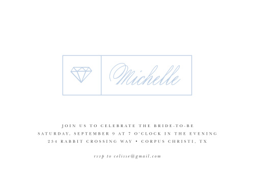 The bride deserves a bachelorette party as classy as she is, and the Diamonds Forever Bachelorette Party Invitations provide.