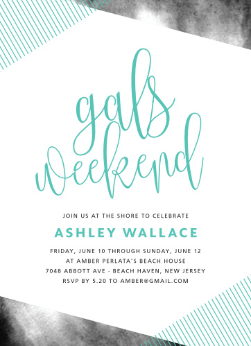 The Gals Weekend Bachelorette Party Invitations are perfect for the modern and trendy bride-to-be.