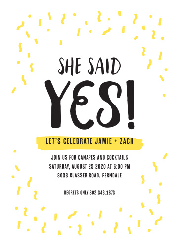 You're engaged! Kick off the celebrations surrounded by the people you love!