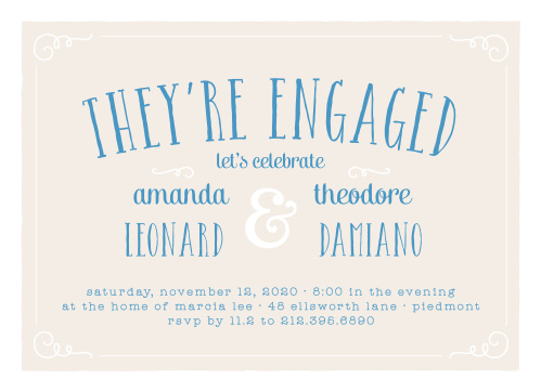 Engagement Party Invitations 15 Off Super Cute Designs Basic Invite
