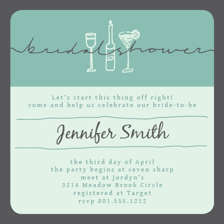 Girls Night Out! Have fun with this invite and get your girls excited about the celebration of your bride-to-be! It's the perfect mix of classy and adorable.