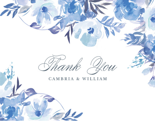 Let your love bloom and spread like the wildflowers on the Comely Wildflowers Thank You Cards.
