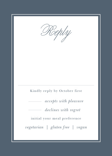 The Elegant Aristocrat Response Cards are simple and refined.