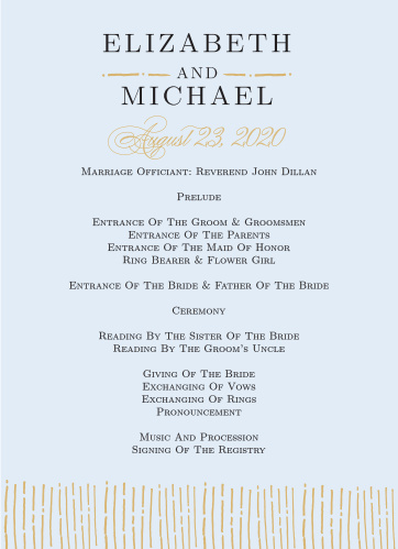 The Dazzling Diamond Foil Wedding Program