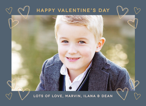 The highlight of our Heart Frame Foil Valentine's Day Cards is the beautiful photo that you choose.