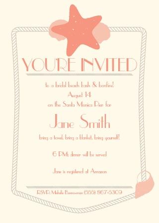 Bridal shower invitations wedding shower invitations basicinvite starfish bridal shower invitation filmwisefo