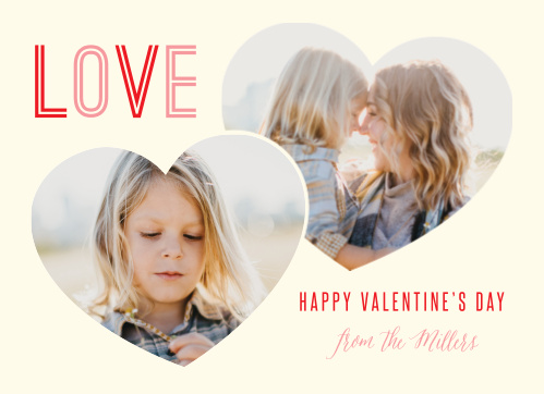 Place your photos in cute, cut out hearts for the The Big Heart Valentine's Day Cards!
